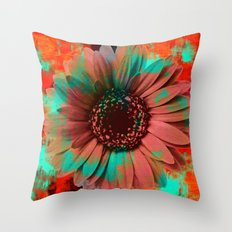 Lysergic Flower Throw Pillow