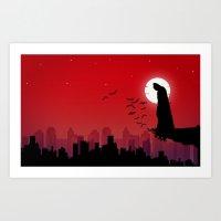 super hero Art Prints featuring super-hero by NextDesigns