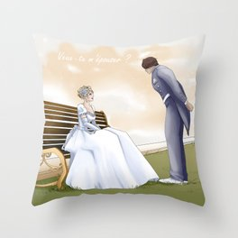 Demande en mariage Throw Pillow