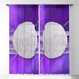 silver moon Blackout Curtain