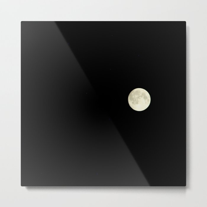 The moon over my balcony Metal Print