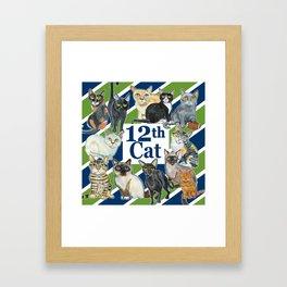 12th Cat Framed Art Print