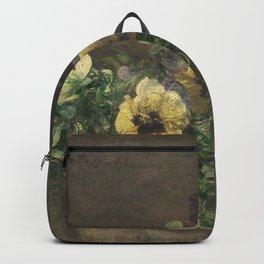 Henri Fantin-Latour - Potted Pansies Backpack