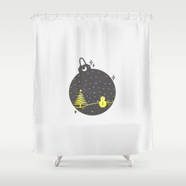 Christmas inside a sphere Shower Curtain