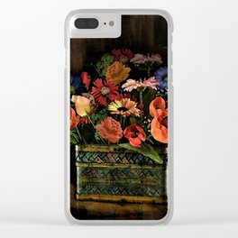 Spring Basket of Color Clear iPhone Case