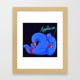 Genie needs applause! Framed Art Print