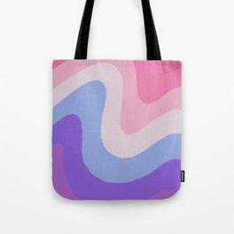 Purple Wave Tote Bag
