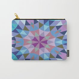 Retro Geometry Mandala Lavender Blue Carry-All Pouch