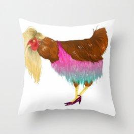 Cluck Off Throw Pillow