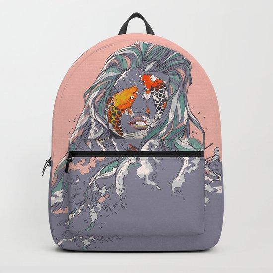 Koi and Raised Backpack
