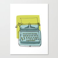 write Canvas Prints featuring Write! by Phillip Wells