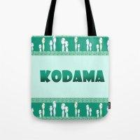kodama Tote Bags featuring kodama by Selis Starlight