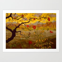 Paul Ranson - Apple Tree with Red Fruit Art Print