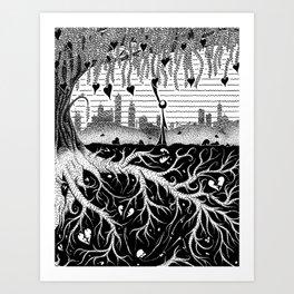 Composting Art Print