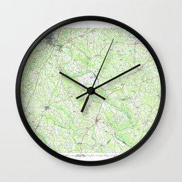 NC Roanoke Rapids 163071 1985 topographic map Wall Clock