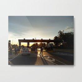 The Lake Maracaibo Bridge - IV Metal Print