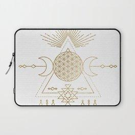 Golden Goddess Mandala Laptop Sleeve