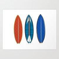 surfboard Art Prints featuring SURFBOARD Art by ialbert