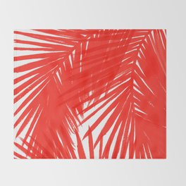 Palms Red Hot Throw Blanket