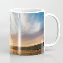 Grand Exit - Golden Sunset on the Oklahoma Prairie Coffee Mug