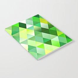 Lime Green Yellow White Diamond Triangles Mosaic Pattern Notebook