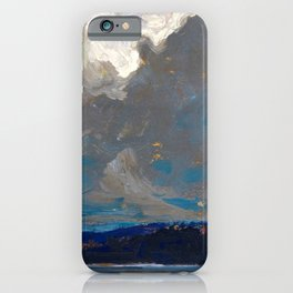 Tom Thomson - Approaching Storm, Dog Point - Canada, Canadian Oil Painting - Group of Seven iPhone Case