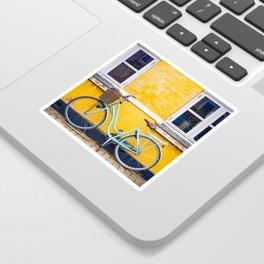 Bike and yellow Sticker