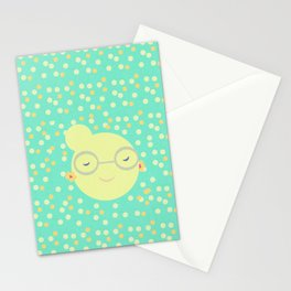 MISS SUNSHINE IN GLASSES Stationery Cards