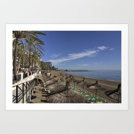 Marbella Beach  Art Print