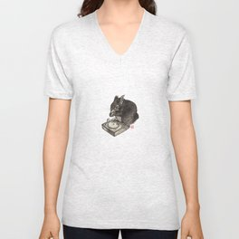 DJ Squirrel Unisex V-Neck