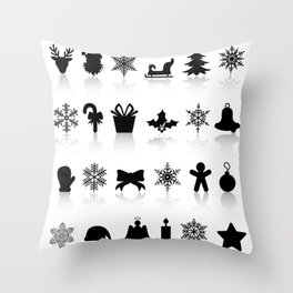 Christmas symbols Throw Pillow