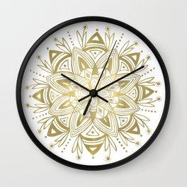 Mandala - Gold Wall Clock