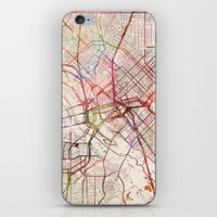 dallas iPhone & iPod Skins featuring Dallas by MapMapMaps.Watercolors