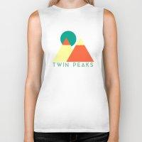 twin peaks Biker Tanks featuring Twin Peaks by VV_V2