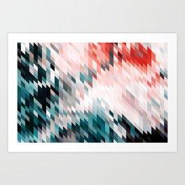 Dark & Blush #abstract #digitalart Art Print