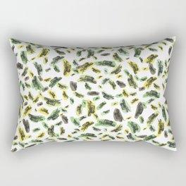 Coloured Falling Feathers Rectangular Pillow