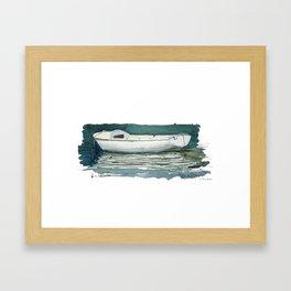 Quai de la Loire - Paris XIXe Caravelle Framed Art Print
