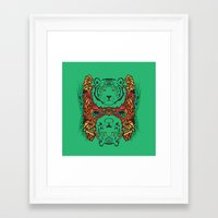 tigers Framed Art Prints featuring Tigers by Ornaart