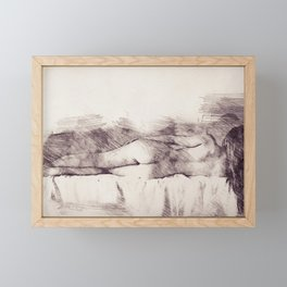 Lying on the bed. Nude studio Framed Mini Art Print