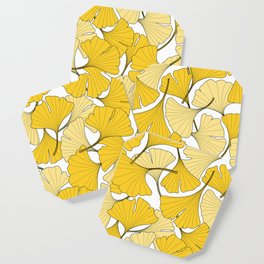 ginkgo leaves (yellow) Coaster