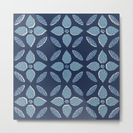 Jaipur Trellis Nantucket Blue Metal Print