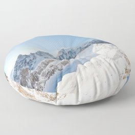 Monte Bianco / Mont Blanc mountain's beauty Floor Pillow