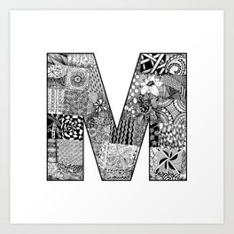 Cutout Letter M Art Print