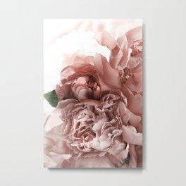 Blush Pink Floral Metal Print