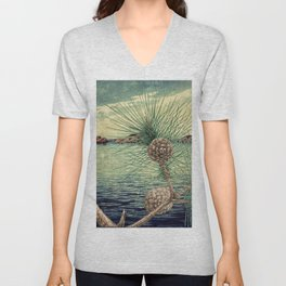 A Hidden View of O-nen Shore Unisex V-Neck