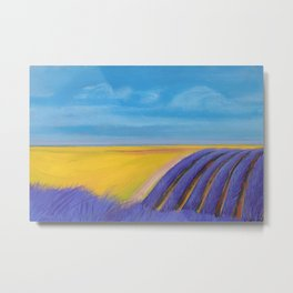 LAVENDER FIELD of SANTA YNEZ Metal Print