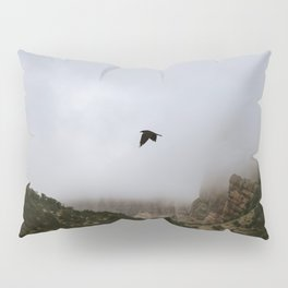 Free as a bird flying through the mountains, Big Bend - Landscape Photography Pillow Sham