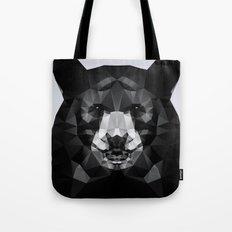 Bear - Black Geo Animal Series Tote Bag