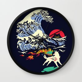 The Great Wave off Oni Island Wall Clock