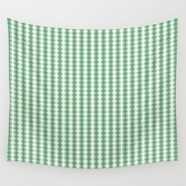 Green and White Abstract Blurred Line Pattern Wall Tapestry